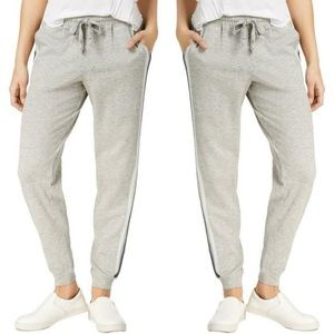 Hippie Rose Side Stripe Jogger Pants In Gray